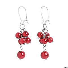 Red Pearl Earrings Craft Kit