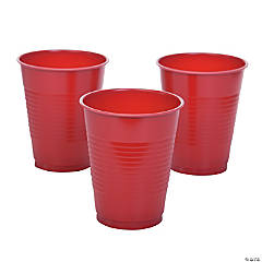 Red Plastic Cups - 20 Ct.