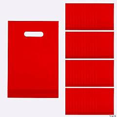 Red Plastic Goody Bags