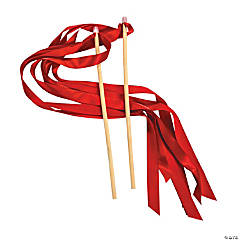 Red Ribbon Wands