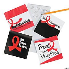 Red Ribbon Week Notepads