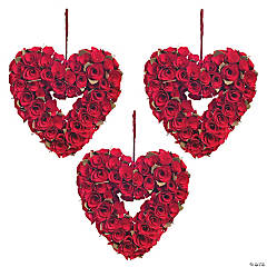 Red Rose Heart Wreath Decorating Kit