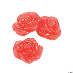 Red Rose-Shaped Gummy Candy