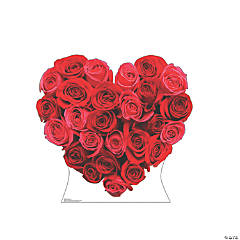 Red Roses Heart Stand-Up