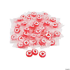 Red Round Hard Candy with Heart