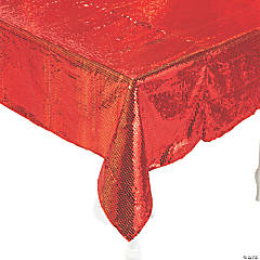 Red Sequined Tablecloth