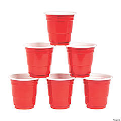 Red Shot Glass Set