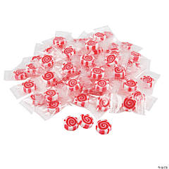 Red Striped Hard Candy Discs