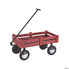 Red Tabletop Wagon