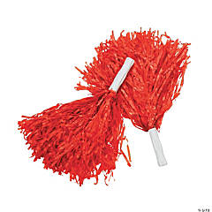 Red Team Spirit Cheer Pom-Poms - 12 Pc.