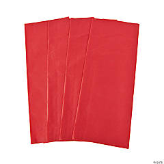 Red Tissue Paper Sheets
