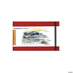Red Travelogue Drawing Journal - Landscape