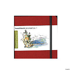Red Travelogue Drawing Journal - Square