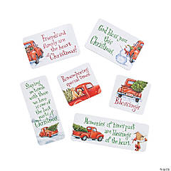 Red Truck Christmas Magnets