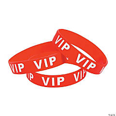 Red VIP Rubber Bracelets