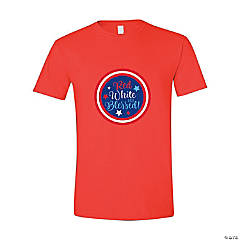 Red White & Blessed Adult's T-Shirt -Medium