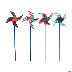 Red, White And Blue Pinwheels - 36 Pc.
