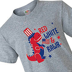 Red, White & Rawr Youth T-Shirt - Extra Large