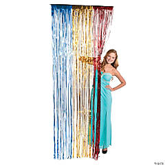 Red, Yellow And Blue Fringe Curtain