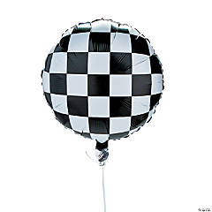Refillable Checked Mylar Balloons