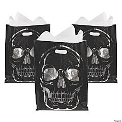 Reflective Foil Skull Trick-or-Treat Goody Bags
