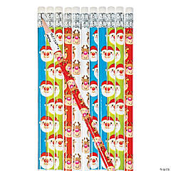 Reindeer & Santa Pencils Clip Strip