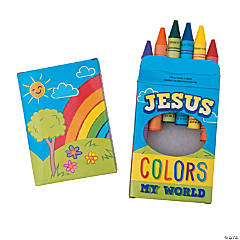 Religious Boxes of 6 Jumbo Crayons