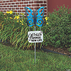 Religious Butterfly Yard Stake