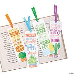Religious Cactus Watercolor Bookmarks
