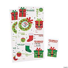 Religious Christmas Gift Tag Stickers