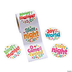 Religious Christmas Song Stickers