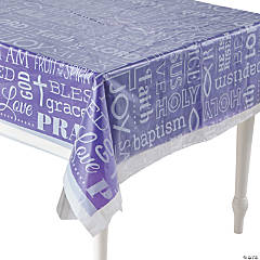 Religious Clear Tablecloth