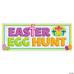 Religious Easter Egg Hunt Banner