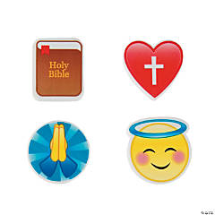 Religious Emoji Erasers - 24 Pc.