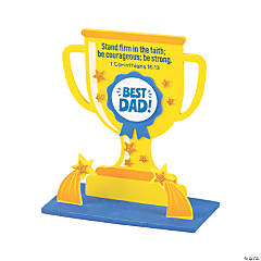 Religious Father's Day Trophy Tabletop Craft Kit