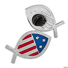Religious Fish Flag Pins