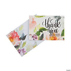 Religious Floral Wedding Thank You Cards