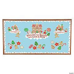 Religious Gingerbread Bulletin Board Set
