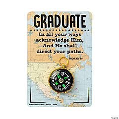 Religious Graduation Compass Tokens with Card