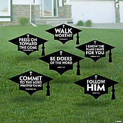 Religious Graduation Mortarboard Yard Signs