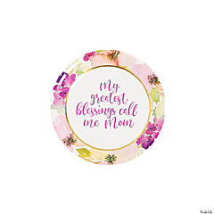 Religious Mother's Day Paper Dessert Plates