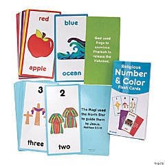 Religious Number & Color Flash Cards