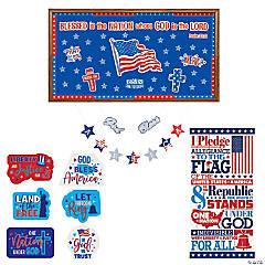 Religious Patriotic Classroom Decorating Kit