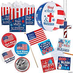 Religious Patriotic Favor Kits for 48