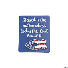 Religious Patriotic Fish Pins with Card