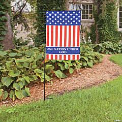 Religious Patriotic Garden Flag - 12 3/4