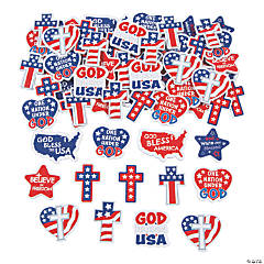 Religious Patriotic Self-Adhesive Shapes