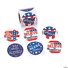 Religious Patriotic Stickers