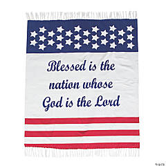 Religious Patriotic Throw Blanket