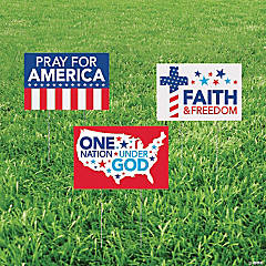 Religious Patriotic Yard Signs